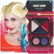 Harley Quinn Beatifull Pink N Blue Wig Plus Makeup