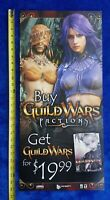 Guild Wars Factions Video Game Store Display Sign 2006 Promo PC Advertising