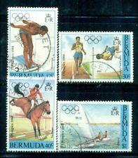 BERMUDA 453-56 SG478-81 Used 1984 Olympic Games Los Angeles set of 4 Cat$6