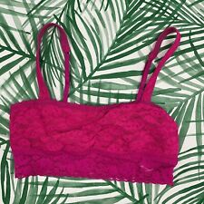 Gilly Hicks Hot Pink Floral Lace Bralette Women's Size Medium