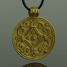 More details for stunning ancient viking gold pendant - circa 9th/10th century     (094)