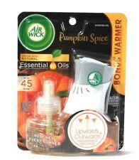 1 Pack Air Wick 0.67 Oz Pumpkin Spice Natural Essential Oils 1 Warmer & 1 Refill
