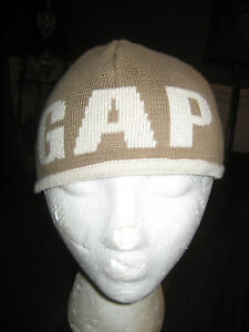 Baby Gap Skull Cap Brown Beige 100% Cotton Toddler 4-5 Years Unisex