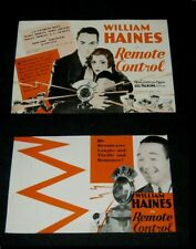 Original WILLIAM HAINES Demille REMOTE CONTROL Herald CHARLES KING Mary Doran