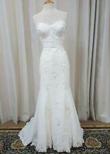 NEW Justin Alexander Sincerity Bridal Sheath Gown Lace 3837 Wedding Dress Ivory