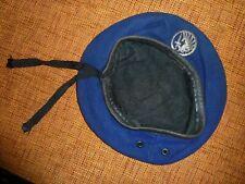 Indochine Béret bleu roi Parachutiste métropolitain 3 parties type commando