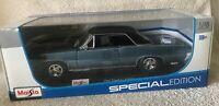 1965 Pontiac GTO - Maisto - 1/18 Diecast Model Car - BLUE w/ BLACK Hard Top NIB!