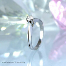 """Ring """"Solitär""""  in 585/- Weißgold - mit 1 Diamant 0,31 ct. Lupenrein/River"""