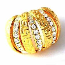 fashion jewelry yellow gold filled stone ring cute Pumpkin shape size9