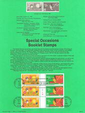 #8852 25c Special Occasions #1 #2395/96 USPS Souvenir Page