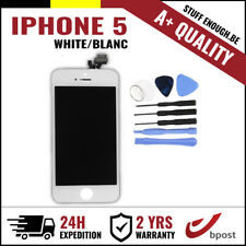 A+ LCD TOUCH SCREEN VITRE DISPLAY/SCHERM/ÉCRAN WHITE BLANC & TOOLS FOR IPHONE 5