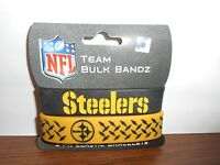 LOTS OF- PITTSBURGH STEELERS FOREVER COLLECTIBLES PACK OF 2 BULK BANDZ NIP
