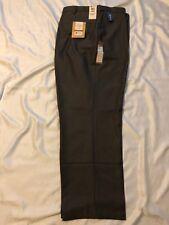 Haggar Big&Tall Trouser: Men Classic Fit, Flat Front, Expand Waist: Brwn, 54x32