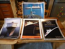 More details for lot x 28 marine art posters,qm2 2004 maiden voyage,qe2 & liberty,limited edition