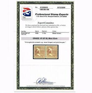 EXCEPTIONAL GENUINE SCOTT 840 MINT OG NH PSE CERT GRADED VF-XF 85 COIL LINE PAIR