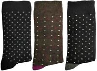 3 Pairs of Ladies JA11 Patterned Cotton Socks by Jennifer Anderton , UK Size 4-8