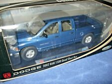 WELLY 2002 DODGE RAM 1500 QUAD PICK UP TRUCK 1:18 OPENING HOOD DOORS & REAR GATE