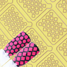 Adhesive Nail Vinyls Dot Rhombus Nail Art UR Sugar Hollow Stencil Stickers