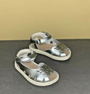 Baby Girl Sandal Camper Twins Silver Leather Sandals First Walker Shoes NEW