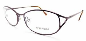 TOM FORD Glasses Frame Shiny Purple with Brown Havana 52mm Spectacles TF5118 081