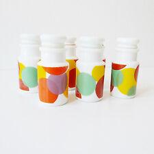 Lot de 6 pots à épices vintage 1970 verre opalin ARCOPAL design 70 pop art deco