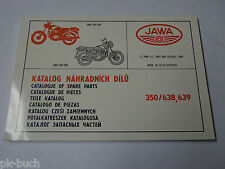 Teilekatalog / Spare Parts Catalog Jawa 350 Typ 638 + 639, Stand 1994