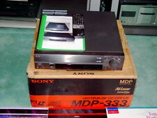 WOW SONY MDP-333 STEREO LASERDISC PLAYER WITH BOX REMOTE INSTRUCTIONS EXCELLENT+