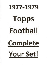 1975 1976 1979 Topps Football COMPLETE YOUR SET!  Pick 25!  Most NRMT!