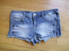 Ladies Atmosphere Limited Edition blue denim hotpants shorts size 8UK vgc v