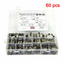 60 Pcs Hose Clamp Assorted Set Worm Gear Hose Pipe Fitting Clamp Assortment Kit