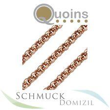 Quoins - Kette aus Edelstahl Rotgold vergoldet 3 mm Durchmesser - 45 cm