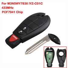 3 Button Replacement Key Fob Keyless Entry Remote For Dodge IYZ-C01C M3N5WY783X
