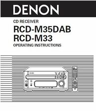 Denon RCD-M35DAB Receiver Amplifier Owners Manual