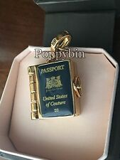 RARE & BRAND NEW JUICY COUTURE BLUE PASSPORT BRACELET CHARM IN TAGGED BOX