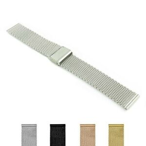 StrapsCo 22mm Replacement Stainless Steel Mesh Smart Watch Band Strap