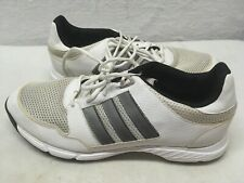 Adidas Traxion Men's Golf Shoes Size 12 White Gray Leather Mesh Cleats Adiwear