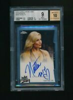 2014 Topps Chrome Auto Natalya BGS 9 WWE