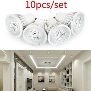 10pcs/set Pure White LED 3W 5W GU10 Downlight Bulb Lamp Spotlights
