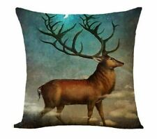 Steampunk  Highland Stag Deer Cushion Cover  victorian fantasy  Gothic