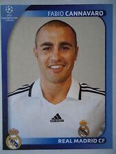 Panini 436 fabio cannavaro real madrid uefa cl 2008/09