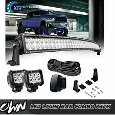 "For Ford Ranger F-150 F250 F350 RAM Roof 50""+4"" Curved LED Light Bar Combo Kits"