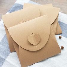 50pz bustine busta custodia MISURA 13*13CM cuore regalo per CD e DVD Carta Kraft