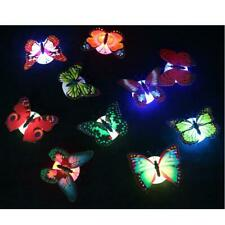 LED Night Light Lamp Colorful Changing Butterfly Room Wall Decor Party 10pcs