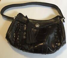 Brighton Black Leather Handbag Purs