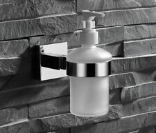 Wall Mount Stainless steel Holder Glass Shampoo Liquid Soap Dispenser For Bath