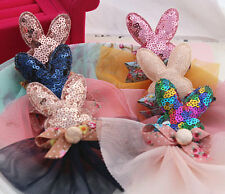 10pcs Fabric Bling rabbits ears DIY Kids Headbands supplies Hair Accessories Etc