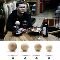 Replacement Oak stopper For Red Wine Carafe Wooden Balls 50mm 55mm 60mm 70mm