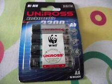 Uniross AA Rechargeable Batteries - BRAND NEW