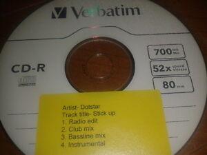 CD Single 2009 PROMO Dotstar - Stick Up cdr rare 4 track promo