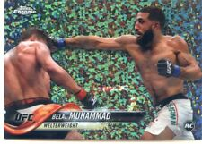 2018 Topps UFC Chrome BELAL MUHAMMAD RC Diamond Hot Box Refractor Card #75